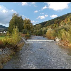 B40 Podzim na řece
