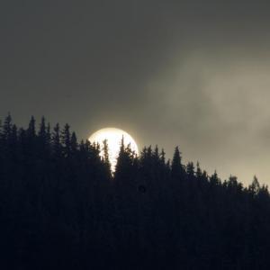 B47 západ slunce