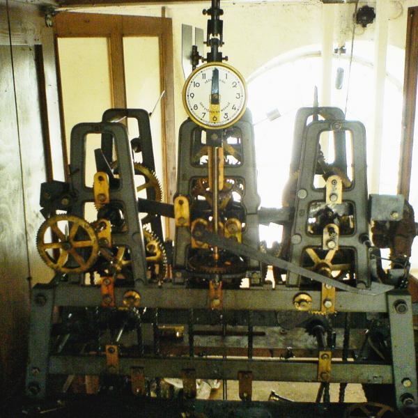 stroj kostelních hodin, autor: Květoslav Súkup