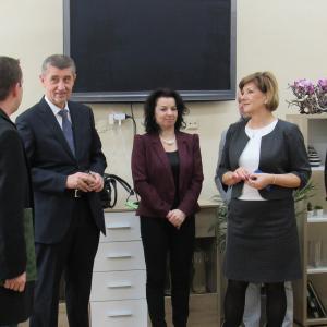 návštěva ministra v DPS, autor: Alena Kiedroňová