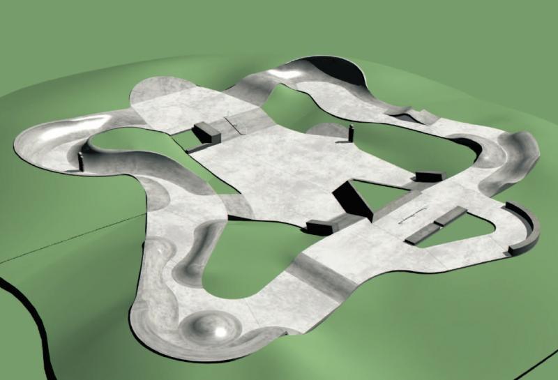 Skatepark projekt, obrázek se otevře v novém okně